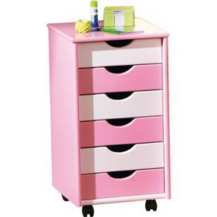 Inter Link ABC Rollcontainer Pierre MDF pink/weiss - Bild 1