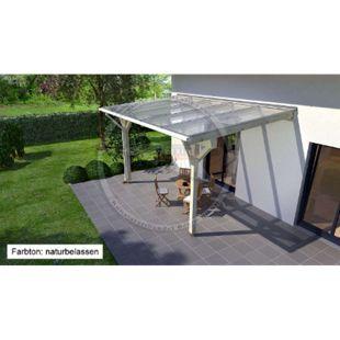 REXOcomplete 306 x 250 cm Terrassendachbausatz mit Holzunterkonstruktion Mahagoni - Bild 1