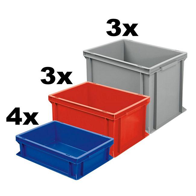 BRB Euro-Stapelbehälter / -Stapelboxen 10 Stück - Bild 1