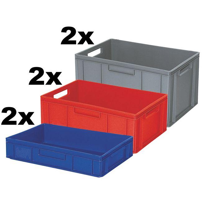 BRB Euro-Stapelbehälter / -Stapelboxen 6 Stück - Bild 1