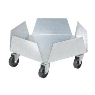 BRB Blumentopfroller / Tonnenroller aus Aluminium - Bild 1