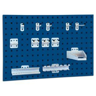 BRB System-Lochplatte mit Haken- und Halter-Set, saphirblau - Bild 1