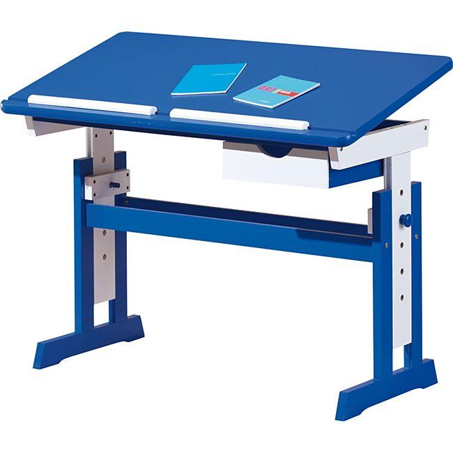 Inter Link ABC Schreibtisch Paco blau/weiss - Bild 1