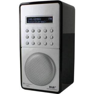 Soundmaster DAB100SW schwarzes DAB+ / UKW-PLL Radio mit Festsenderspeicher und Akku - Bild 1
