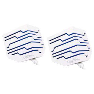 LogiLink SP0022 2.0 Stereo Aktivlautsprecher, Carisma, beleuchtet - weiß - Bild 1