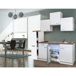 Respekta Küchenzeile KB180WW 180 cm Weiß - Bild 1