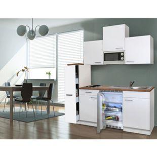 Respekta Küchenzeile KB180WWMI 180 cm Weiß - Bild 1