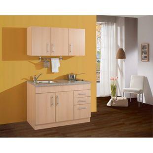 HELD Möbel Single-Küche Dallas 120 cm - Melamin Buche Nachbildung - Bild 1