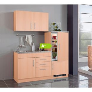 HELD Möbel Single-Küche Dallas 160 cm - Melamin Buche Nachbildung - Bild 1