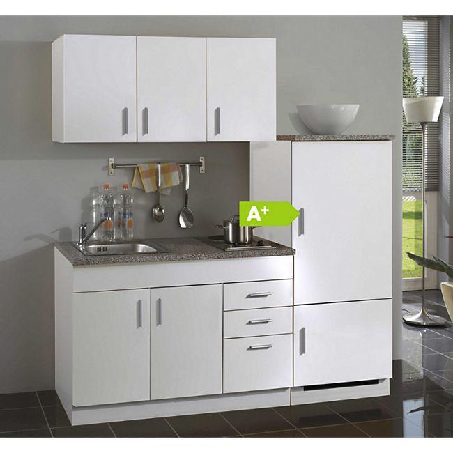 HELD Möbel Single-Küche Dallas 180 cm - Melamin weiß - Bild 1