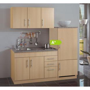 HELD Möbel Single-Küche Dallas 180 cm - Melamin Buche Nachbildung - Bild 1