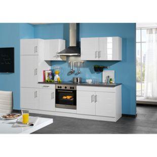 HELD Möbel Küchenzeile Nevada 270 cm Hochglanz weiß - ohne E-Geräte - Bild 1