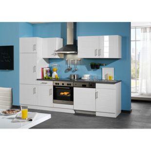 HELD Möbel Küchenzeile Nevada 280 cm Hochglanz weiß - ohne E-Geräte - Bild 1