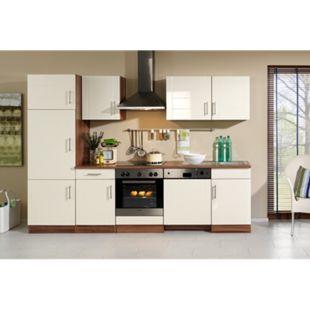 HELD Möbel Küchenzeile Nevada 280 cm Hochglanz creme - ohne E-Geräte - Bild 1