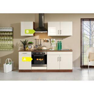 HELD Möbel Küchenzeile City 210 cm Hochglanz creme - inkl. E-Geräte - Bild 1