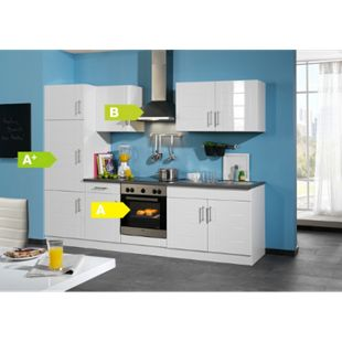 HELD Möbel Küchenzeile City 270 cm Hochglanz weiß - inkl. E-Geräte - Bild 1