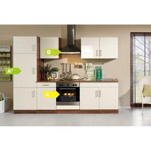 HELD Möbel Küchenzeile Nevada 270 cm Hochglanz creme - inkl. E-Geräte - Bild 1