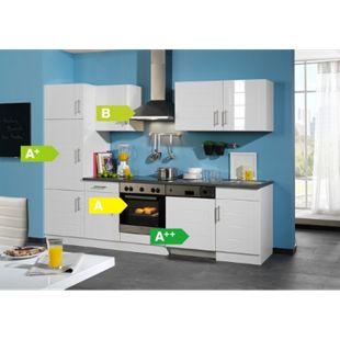 HELD Möbel Küchenzeile City 280 cm Hochglanz weiß - inkl. E-Geräte - Bild 1
