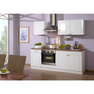 HELD Möbel Küchenzeile Rom 210 cm Hochglanz weiß - ohne E-Geräte - Bild 1