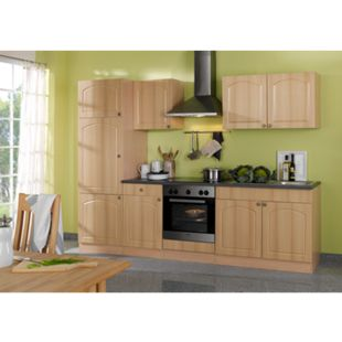 HELD Möbel Küchenzeile Rom 270 cm Buche Nachbildung - ohne E-Geräte - Bild 1