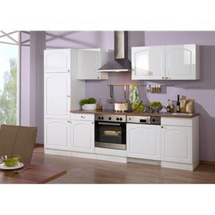 HELD Möbel Küchenzeile Rom 280 cm Hochglanz weiß - ohne E-Geräte - Bild 1