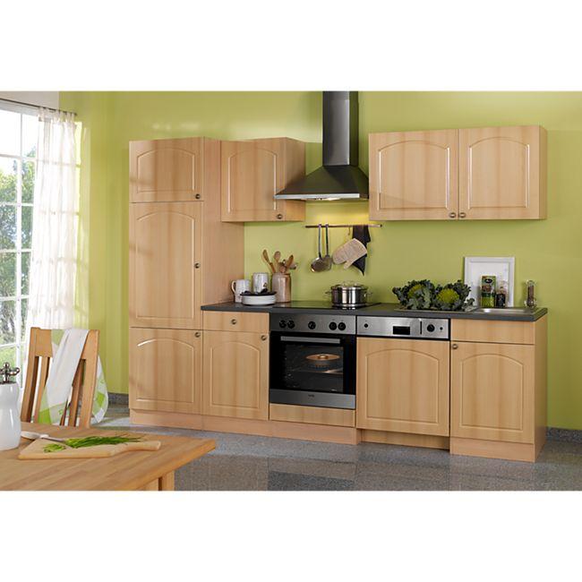 HELD Möbel Küchenzeile Rom 280 cm Buche Nachbildung - ohne E-Geräte - Bild 1