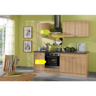 HELD Möbel Küchenzeile Rom 210 cm Buche Nachbildung - inkl. E-Geräte - Bild 1