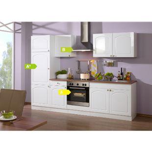 HELD Möbel Küchenzeile Rom 270 cm Hochglanz weiß - inkl. E-Geräte - Bild 1