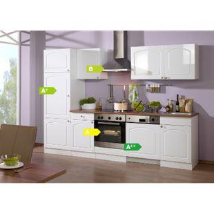 HELD Möbel Küchenzeile Rom 280 cm Hochglanz weiß - inkl. E-Geräte - Bild 1