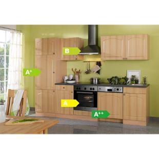 HELD Möbel Küchenzeile Rom 280 cm Buche Nachbildung - inkl. E-Geräte - Bild 1