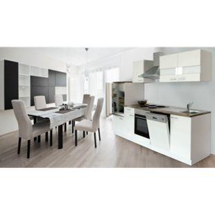 Respekta Küchenzeile KB280WW 280 cm Weiß - Bild 1