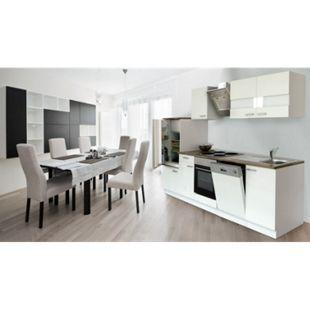 Respekta Küchenzeile KB280WWS 280 cm Weiß - Bild 1