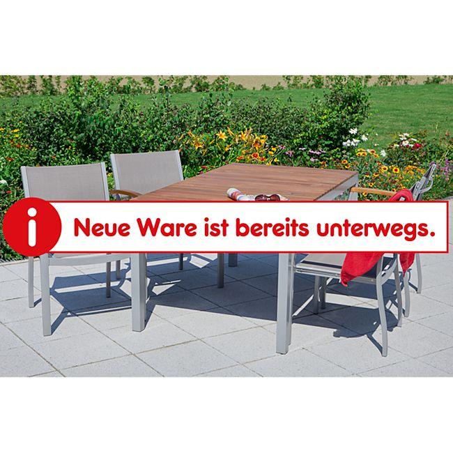Merxx Tischgruppe Naxos 5tlg. mit Stapelsessel und Standard Tisch - Bild 1