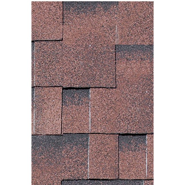 Karibu Dachschindeln Asymmetrisch 3 m², Farbe rot geflammt - Bild 1