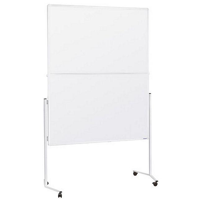 magnetoplan Moderationstafel weißer Rahmen, klappbar, mobil - Karton weiß - Bild 1