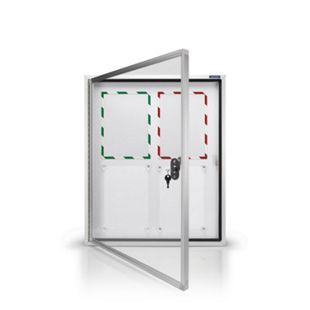 magnetoplan Schaukasten CC Außenbereich mit Sicherheitsglas, magnetisch 4x A4 - Bild 1