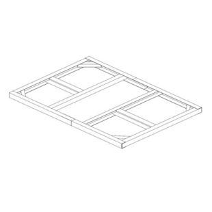 Tepro Metall-Unterkonstruktion Pent Roof 6x4 - Bild 1