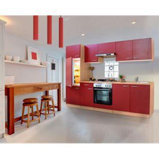 Respekta Küchenzeile KB270BRE 270 cm Rot-Buche Nachbildung - Bild 1