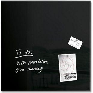 sigel GL110 Glas-Magnetboard artverum 48 x 48 x 1,5 cm - schwarz - Bild 1