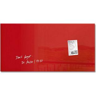 sigel GL147 Glas-Magnetboard artverum 91 x 46 x 1,5 cm - rot - Bild 1