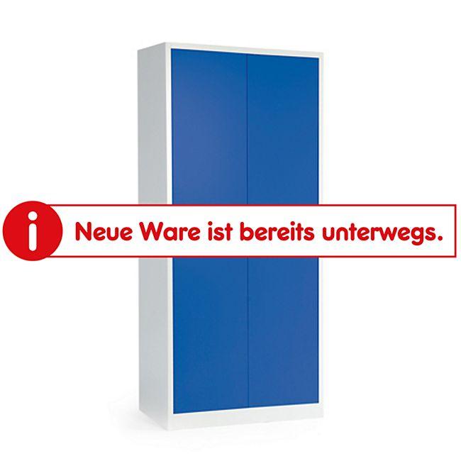 Protaurus Stahlschrank mit 4 Böden lichtgrau/blau - Bild 1