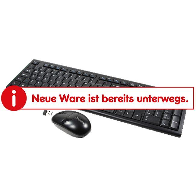 LogiLink ID0104 Tastatur Maus Kombination Funk - schwarz - Bild 1