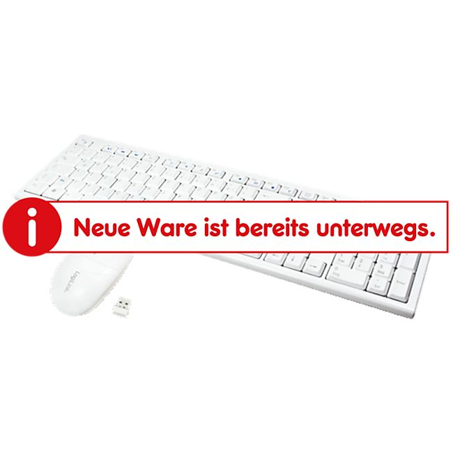 LogiLink ID0104W Tastatur Maus Kombination Funk - weiß - Bild 1