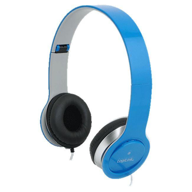 LogiLink HS0031 Stereo High Quality Headset - blau - Bild 1
