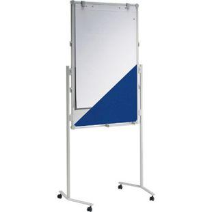 MAUL Moderationstafel MAULpro, Textil blau / Whiteboard - ohne Zubehör - Bild 1