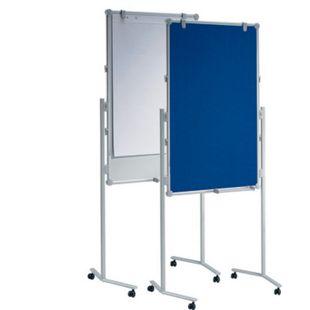 MAUL Moderationstafel MAULpro, Textil blau / Whiteboard - mit Zubehör - Bild 1