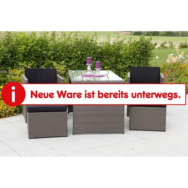 Merxx Tischgruppe Merano 5-tlg. inkl. Kissen, grau - Bild 1