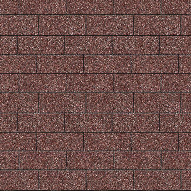 Karibu Dachschindeln Rechteck, dunkelrot - Bild 1