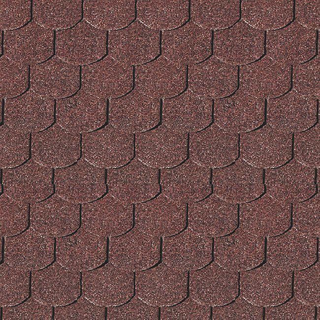 Karibu Dachschindeln Biberschwanz, dunkelrot - Bild 1