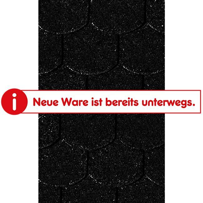 Karibu Dachschindeln Biberschwanz, schwarz - Bild 1